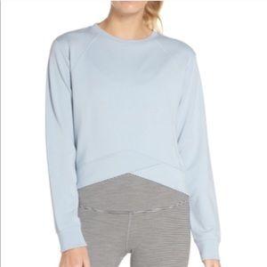 Zella Uplifted Sweatshirt Pullover Blue Fog